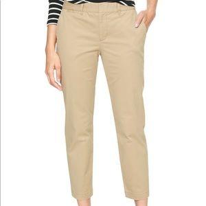 NWT GAP Women's Khaki Pants Slim City Crop Size 10